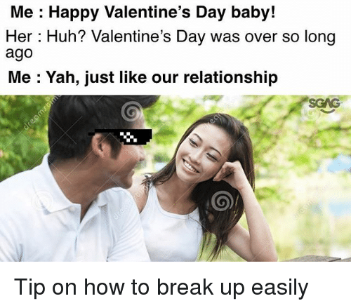 Huh, Memes, And Valentineu0027s Day: Me : Happy Valentineu0027s Day Baby! Her