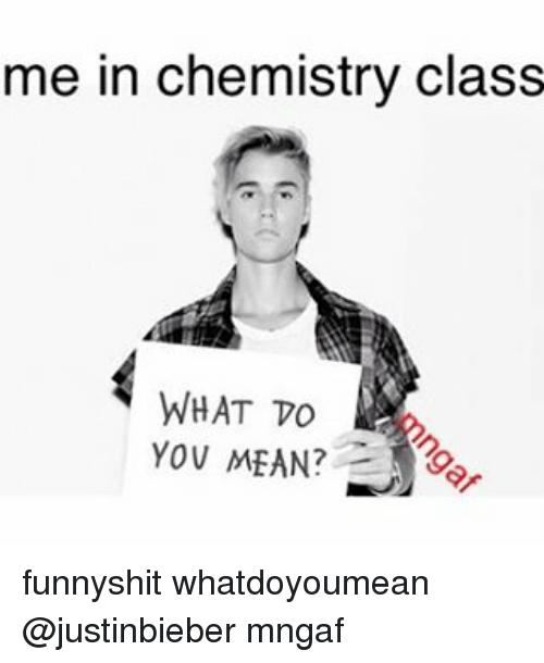 What does chemistry mean to you