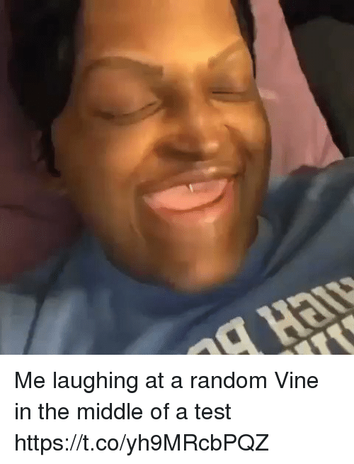 Vine, Test, and The Middle: Me laughing at a random Vine in the middle of a test https://t.co/yh9MRcbPQZ
