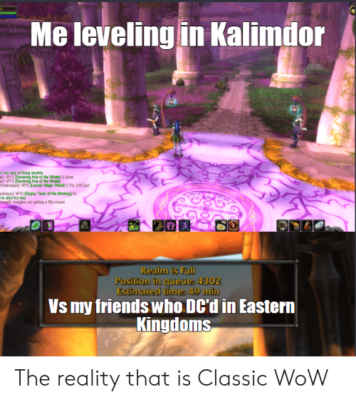 Me Leveling in Kalimdor My Way of Firirg Anythin R WTS