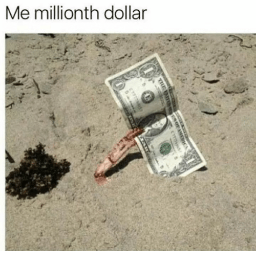 Dollars, Me-Millionth-Dollar, and Dollar: Me millionth dollar
