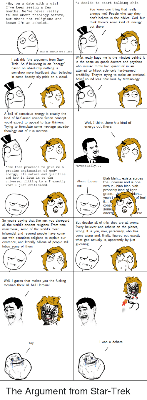 an atheist on a date