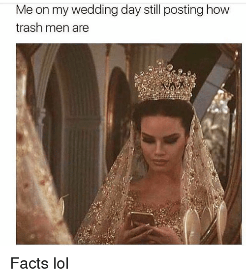 Facts Lol And Memes Me On My Wedding Day Still Posting How Trash