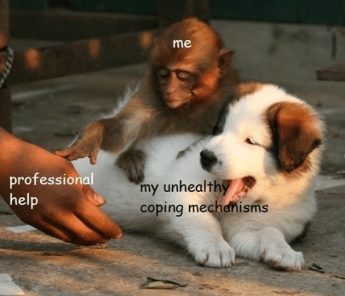Professional, Coping, and Coping Mechanisms: me  professional  my unhealth  coping mechanisms