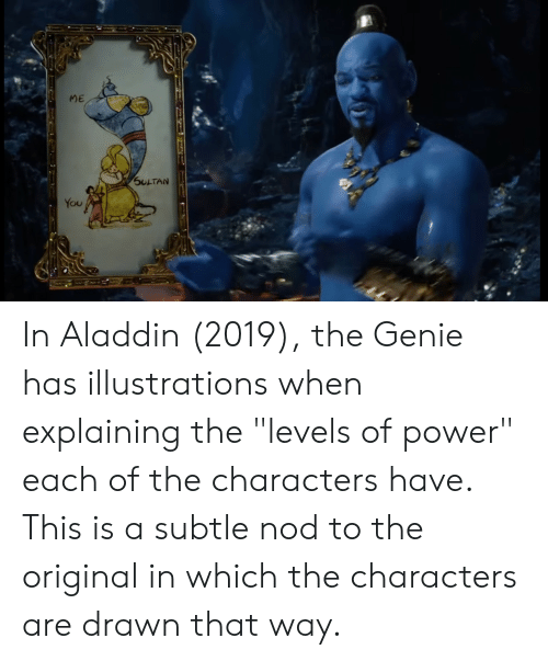 ME SULTAN You in Aladdin 2019 the Genie Has Illustrations