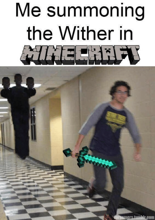Tumblr, Com, and The: Me summoning  the Wither in  NINECRAF  STS  forgamers tumblr.com