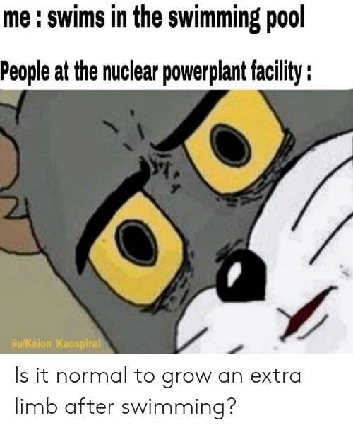 Me Swims In The Swimming Pool People At The Nuclear Powerplant Faclity Kaospiral Is It Normal To