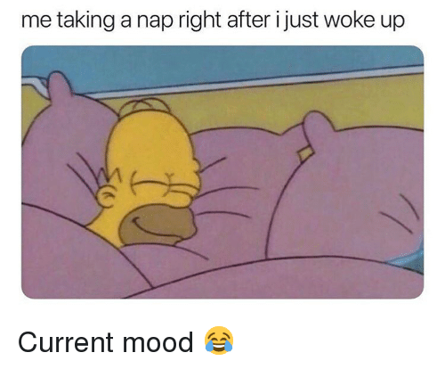Memes, Mood, and Current Mood: me taking a nap right after i just woke up Current mood 😂