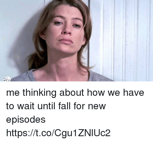 Fall, Memes, and 🤖: me thinking about how we have to wait until fall for new episodes https://t.co/Cgu1ZNlUc2