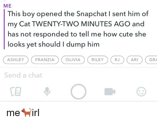 how to send a chat snapchat