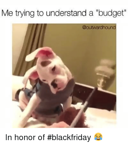 Me Trying To Understand A Budget In Honor Of Blackfriday