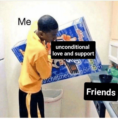 me unconditional love and support friends 20050892 me unconditional love and support friends friends meme on me me