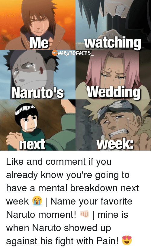 Naruto S Wedding.Me Watching Narutofacts Naruto S Wedding Week Next Like And Comment