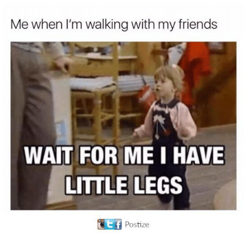 Friends, Funny, and Tumblr: Me when I'm walking with my friends  WAIT FOR MEI HAVE  LITTLE LEGS  Postize