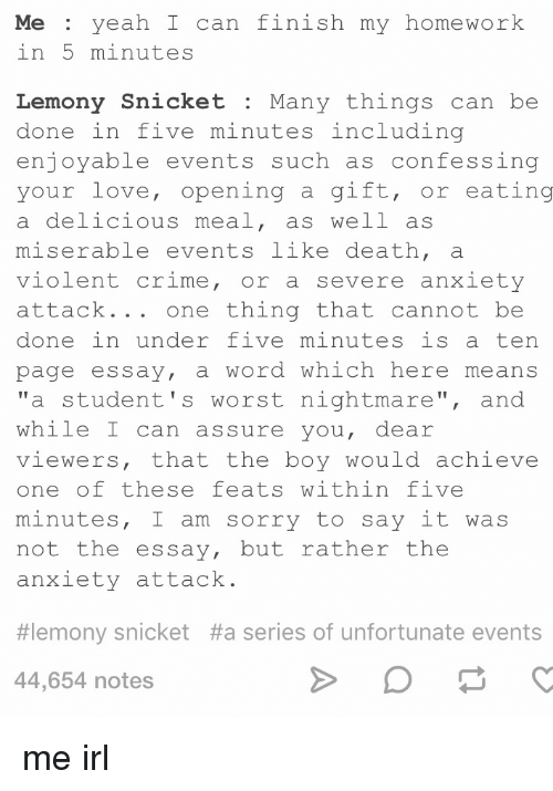a series of unfortunate events essay