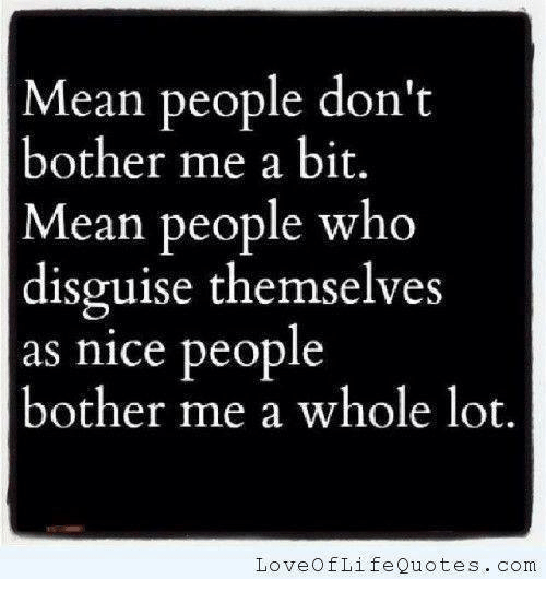 Mean People Dont Bother Me A Bit Mean People Who Disguise