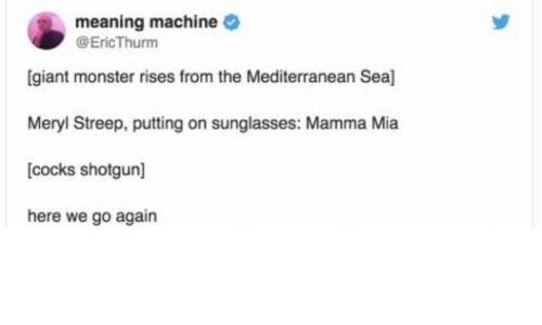 Meaning Machine Giant Monster Rises From the Mediterranean