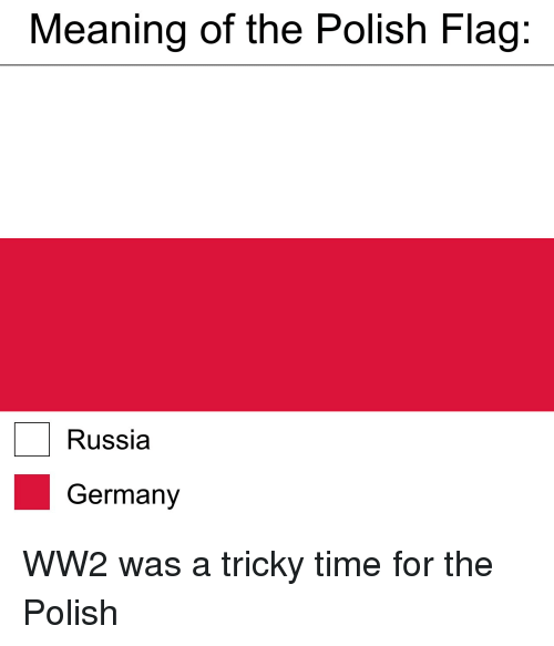 Meaning of the Polish Flag Russia Germany WW2 Was a Tricky Time for