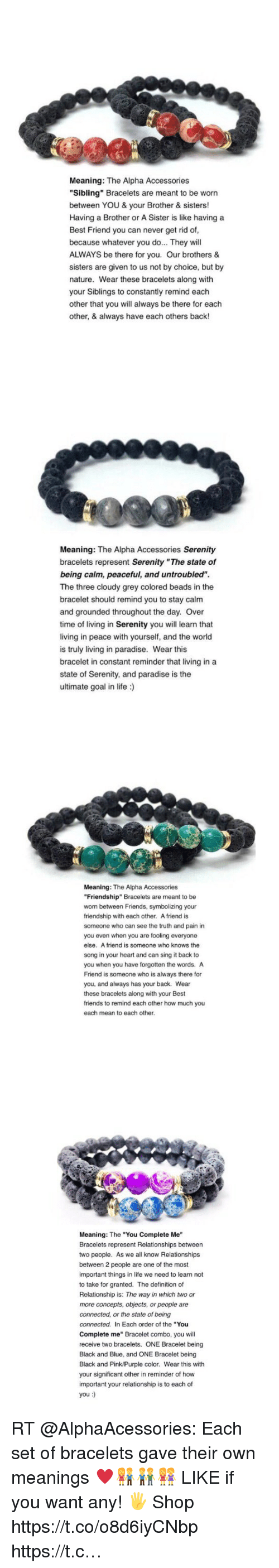 Best Friend Definitely And Friends Meaning The Alpha Accessories Sibling Bracelets Are