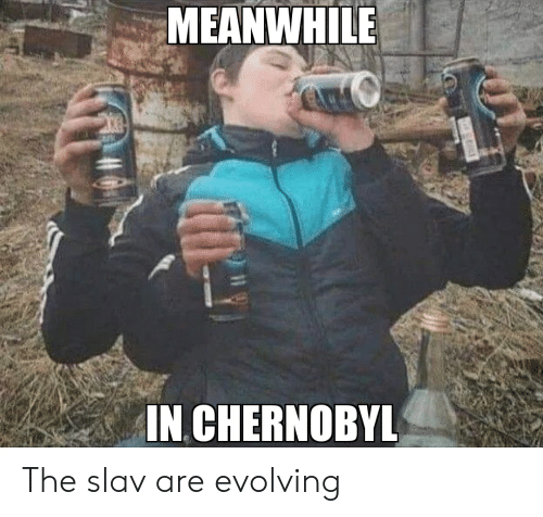 Meanwhile In Chernobyl The Slav Are Evolving Reddit Meme On Me Me