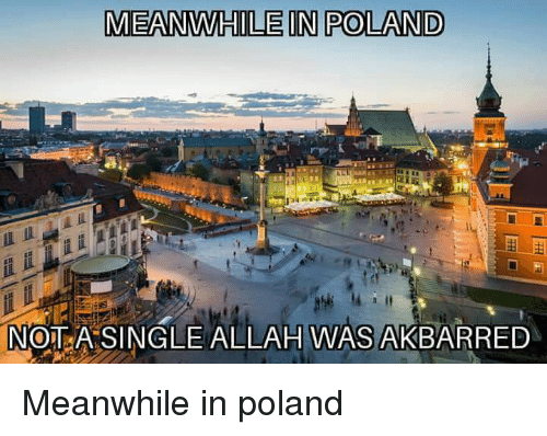 meanwhile in poland nt asingle allah was akbarred meanwhile in 28952028 meanwhile in poland nt asingle allah was akbarred poland meme on