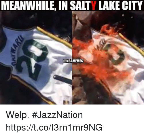 Meanwhile In Salty Lake City Welp Jazznation Httpstcoi3rn1mr9ng
