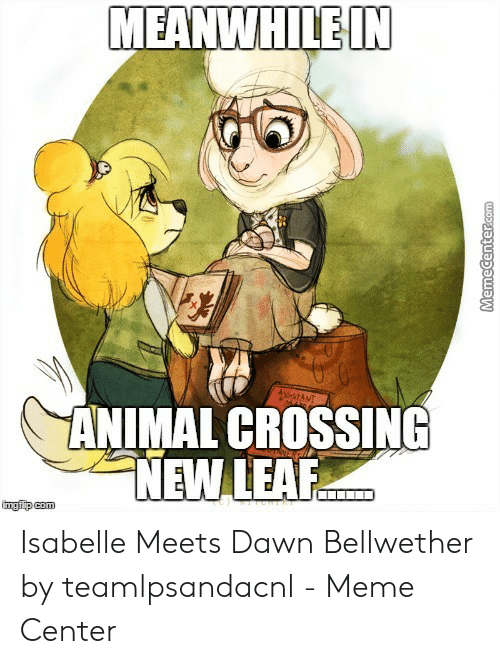 Meanwhilein Animal Crossing New Lear Isabelle Meets Dawn