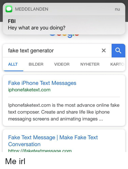 meddelanden nu fbi hey what are you doing fake text generator allt