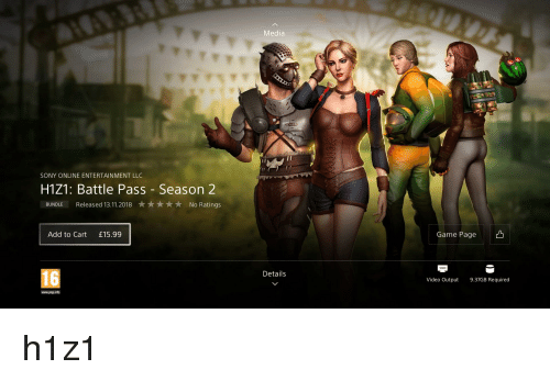 Media SONY ONLINE ENTERTAINMENT LLC H1Z1 Battle Pass