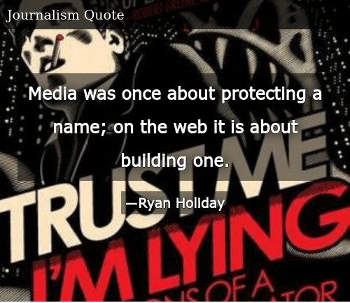 Media Was Once About Protecting A Name On The Web It Is About