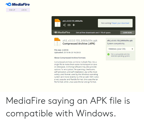MediaFire SIGN UP LOG IN Ah3_v300155 B969a59e Not Working