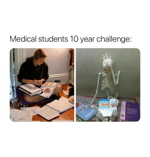 Medical, Challenge, and  Year: Medical students 10 year challenge:  MEDICIN