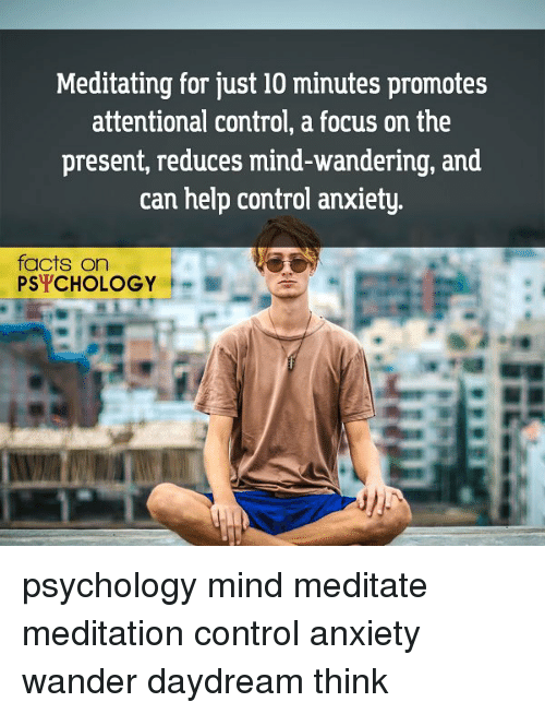 Facts, Memes, and Control: Meditating for just 10 minutes promotes  attentional control,