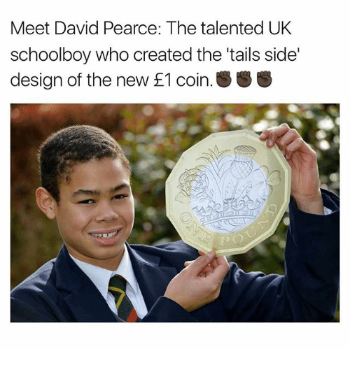 Memes, F1, and Schoolboy: Meet David Pearce: The talented UK  schoolboy who created the tails side'  design of the new F1 coin. SS
