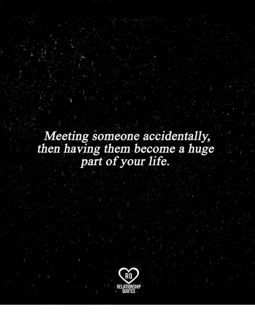 Quotes About Meeting Someone Meeting Someone Accidentally Then Having Them Become a Huge Part  Quotes About Meeting Someone