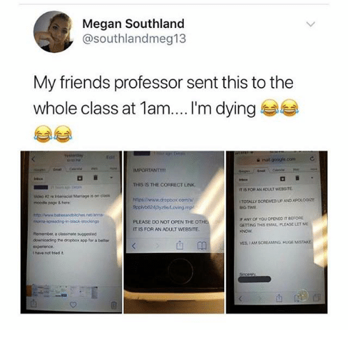 Megan Southland My Friends Professor Sent This to the Whole Class at