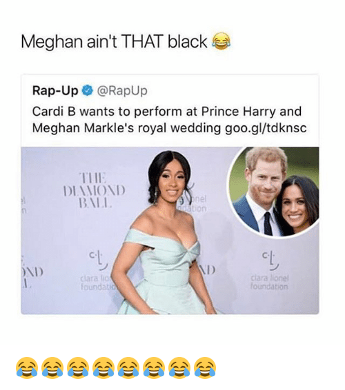 Meghan Ain't THAT Black Rap-Up Cardi B Wants To Perform At