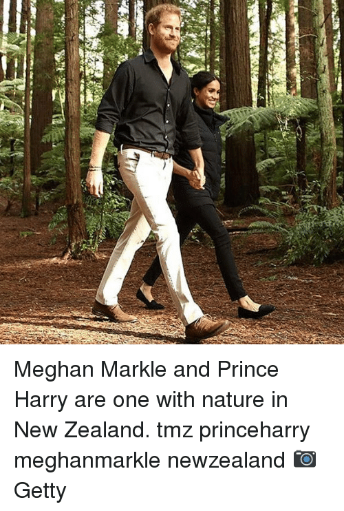 Memes, Prince, and Prince Harry: Meghan Markle and Prince Harry are one with nature in New Zealand. tmz princeharry meghanmarkle newzealand 📷Getty