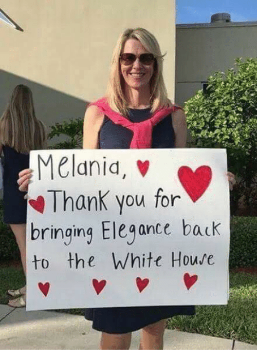White House, Thank You, and House: Melanid, v  Thank you for  bringing Elegance back  to the White House