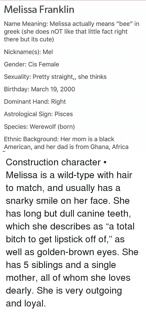 Melissa Franklin Name Meaning Melissa Actually Means Bee in