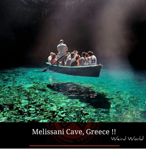 Memes, 🤖, and Cave: Melissani Cave, Greece  Weird World