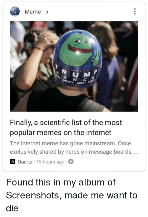 Meme> MERICA GREAT Finally a Scientific List of the Most