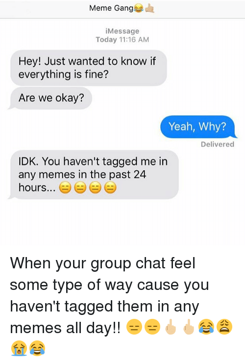 group chat tagged chat