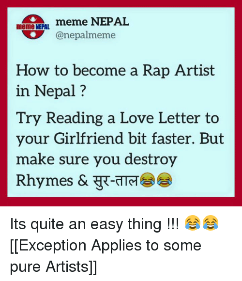 Meme nepal meme nepal canepalmeme how to become a rap artist in nepal nepali and love letter meme nepal meme nepal canepalmeme how to become spiritdancerdesigns Images