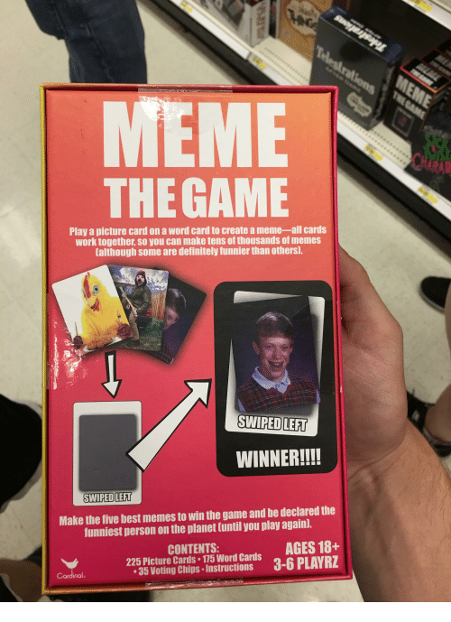 MEME THE GAME Play a Picture Card on a Word Card to Create ...
