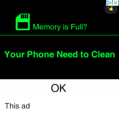 Phone, Engrish, and Memory: Memory is Full?  Your Phone Need to Clean  OK