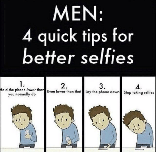 How do guys take selfies