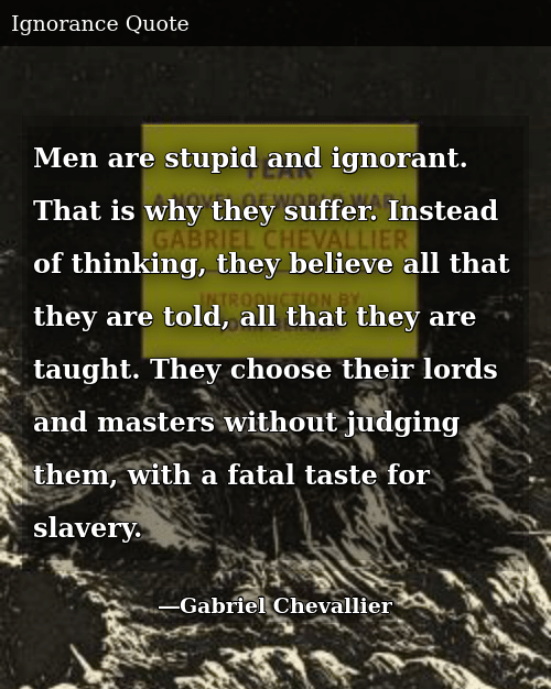 Men Are Stupid and Ignorant That Is Why They Suffer Instead ...