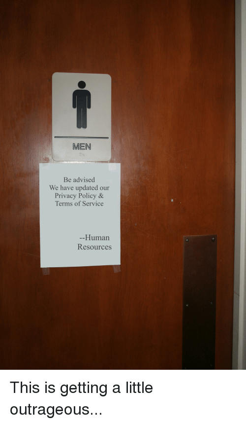MEN Be Advised We Have Updated Our Privacy Policy & Terms of Service