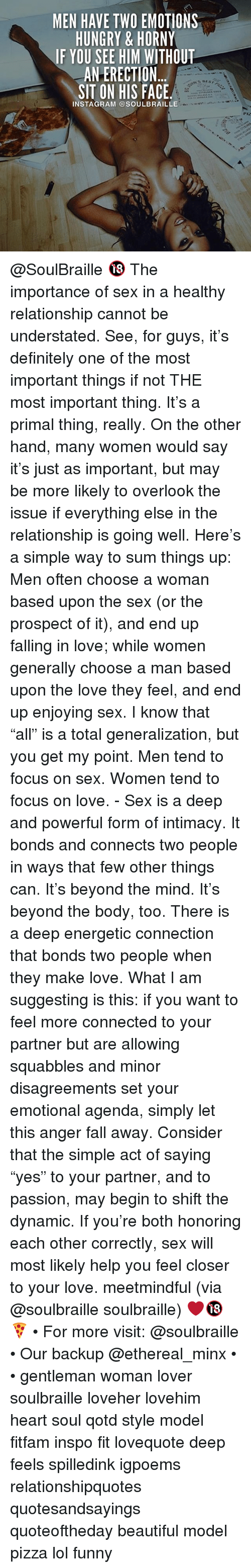the importance of having sex